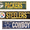 """NFL 24""""x6"""" Distressed Wooden Street Sign"""