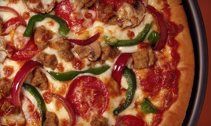 Straw Hat Pizza - Tracy: $8.49 for One Large One-Topping Pizza at Straw Hat Pizza ($16.99 Value)