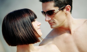 Flow Salon: Men's or Women's Haircut Package from Julio Aristy at Flow Salon (Up to 55% Off). 4 Options Available.