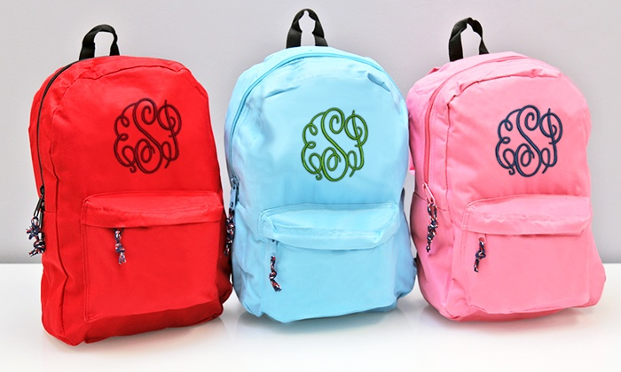Personalized Monogram Backpack | Groupon Goods