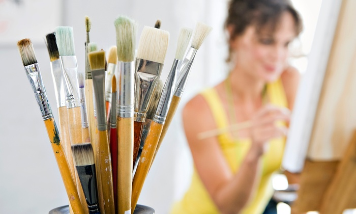 Brush and Barrel - Coralville: Adult Painting Class and One Drink for Two, Four, or Six at Brush and Barrel (Up to 52% Off)