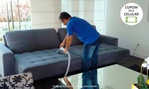 Higicom - Valinhos: Higicom - Valinhos: lavação de 1 sofá de até 2 ou 5 lugares + higienização com antiácaro