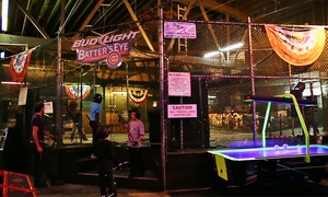 Sluggers World Class Sports Bar: $12 for 15 Batting Cage Tokens at Sluggers World Class Sports Bar ($20 Value)