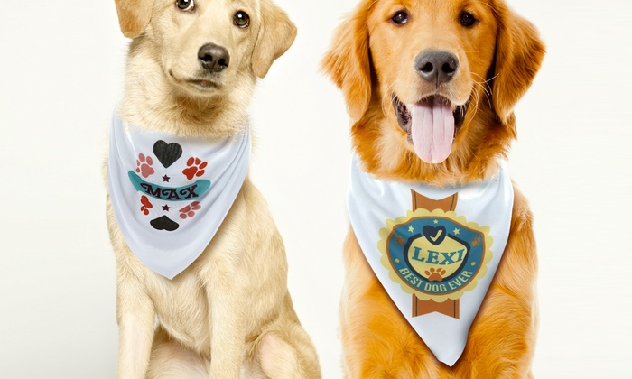 Monogram Online: One or Two Personalized Dog Bandanas from Monogram Online (Up to 75% Off)