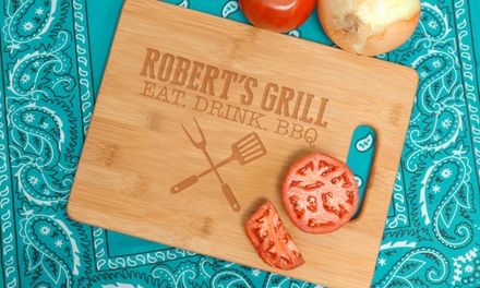 $24.99 for a Personalized Bamboo Cutting Board from Monogram Online ($59.99 Value)