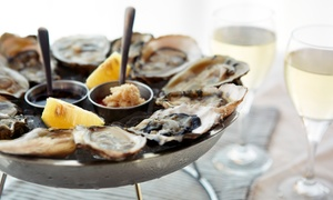 Whispers Oyster Bar and Grill: Seafood and Drinks at Whispers Oyster Bar and Grill (40% Off). Two Options Available.