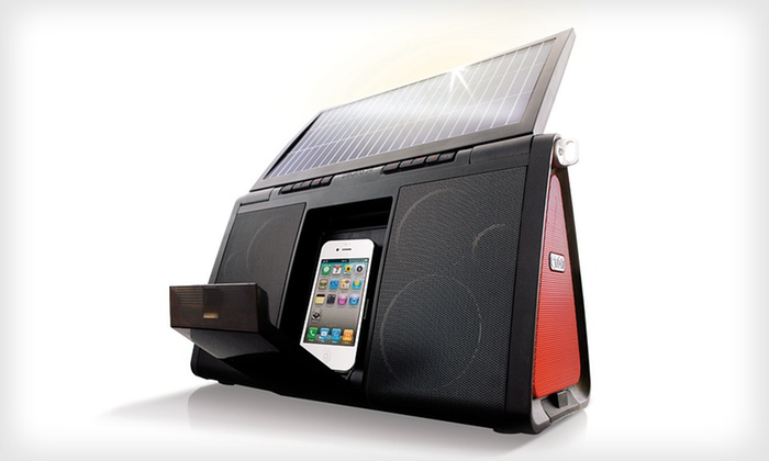 Eton Solar-Powered Sound System: $129 for an Eton Soulra XL Solar-Powered Sound System for iPod and iPhone ($250 List Price). Free Shipping and Returns.