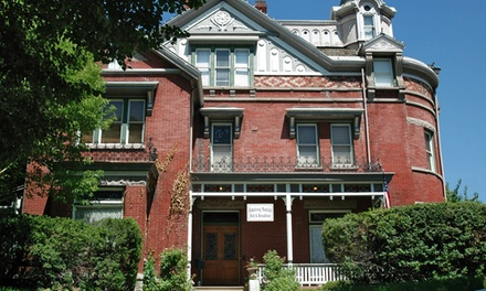 groupon daily deal - 1- or 2-Night Stay for Two in a Queen or King Room at Armstrong Mansion Bed and Breakfast in Salt Lake City