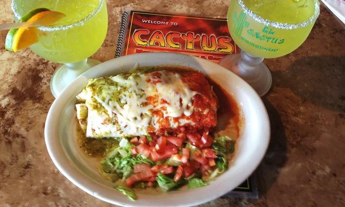 El Cactus Authentic Mexican Cuisine - Multiple Locations: Authentic Mexican Food at El Cactus Authentic Mexican Cuisine (45% Off). Two Options Available.