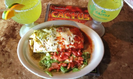 Authentic Mexican Food at El Cactus Authentic Mexican Cuisine (45% Off). Two Options Available.