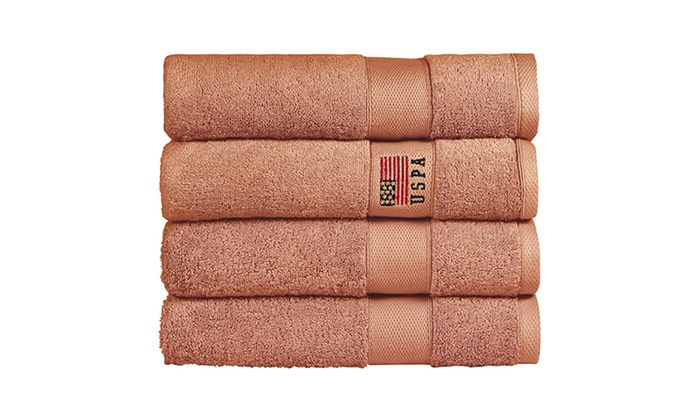 4 Pack Of U S Polo Assn Bath Towels Groupon