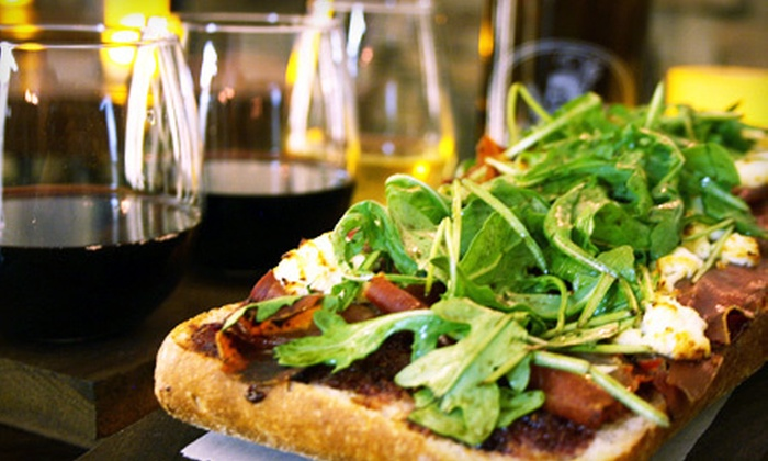 GastroMarket - New York: Cask Wine and Artisan Pizza for Two or Four at GastroMarket (Up to 70% Off)