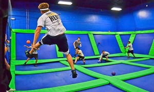 AirHeads Trampoline Arena: Two or Four Unlimited Jump Passes at AirHeads Trampoline Arena (Up to 39% Off)