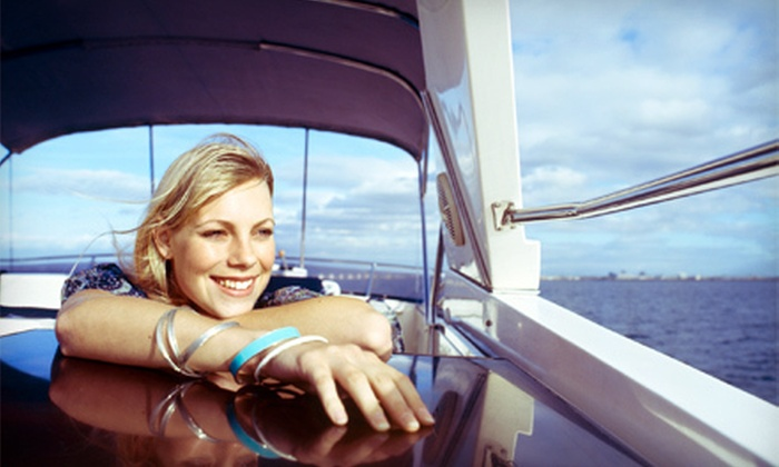 Tex Star - Lewisville: Four-Hour Weekday or Weekend Luxury Boat Rental for Up to 14 from Tex Star (Up to 58% Off)