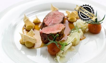 """5-Gänge-""""Gourmetstück Menü"""" mit Besuch vom Küchenchef am Tisch im Filetstück in der Uhlandstraße ab 89 €"""