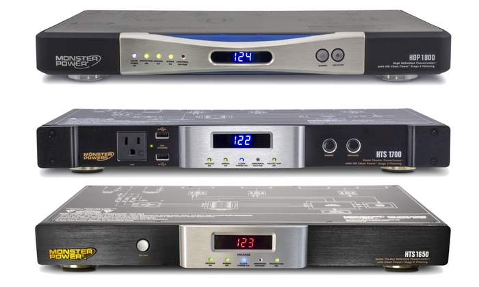 Monster Home Theater Surge Protection Centers