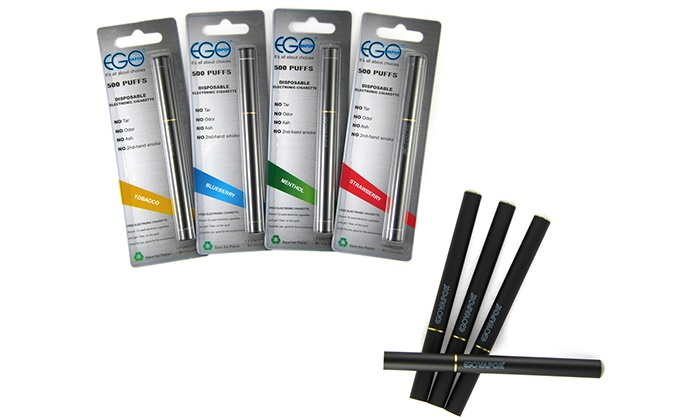 Ego Vapor: One or Two E-Cigarette Packages, Vaporizer Kit, or Eight Disposable E-Cigarettes from Ego Vapor (Up to 67% Off). Redeem Online or In-Store.