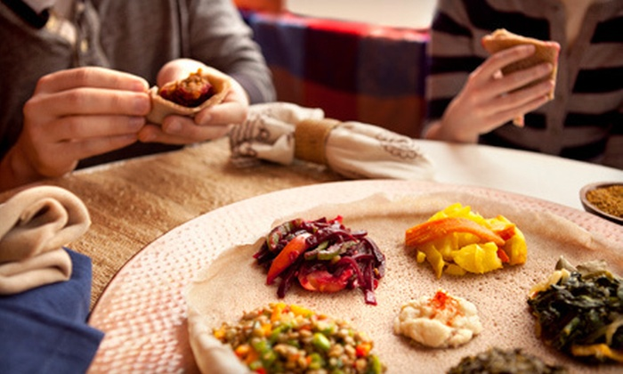 T's Place - Longfellow: $17.50 for Authentic Ethiopian Meal for Two at T's Place (Up to $35.85 Value)
