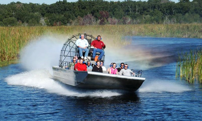 Boggy Creek Airboat Rides - St. Cloud: 60-Minute Airboat Nature Tour for Two or Four from Boggy Creek Airboat Rides (Up to 49% Off)