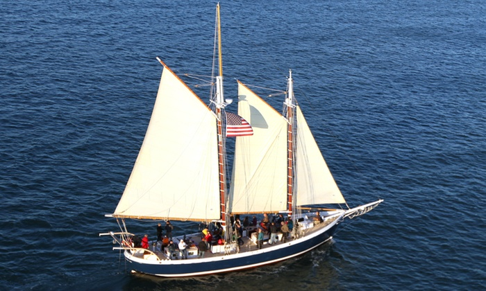 SF Bay Adventures - Freda B: Sunday Evening Sunset Sail or Friday Night Bay Lights Sail from SF Bay Adventures (49% Off)