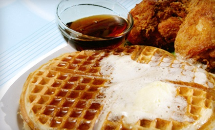 $20 Groupon: 444 Embarcadero W in Oakland - Home of Chicken and Waffles in Oakland