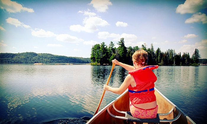 Riverview Ranch - Bourbon: 5- or 10-Mile Canoe Trip for Two or Four with Option for One Night of Camping from Riverview Ranch (Half Off)