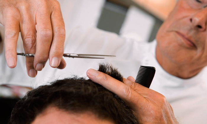 George's Hairstyling Inc. - Financial District: Men's Haircut and Wash, Men's Classic Barbershop Shave, or Both at George's Hairstyling Inc. (Up to 55% Off)