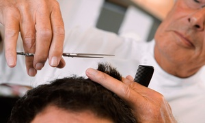 George's Hairstyling Inc.: Men's Haircut and Wash, Men's Classic Barbershop Shave, or Both at George's Hairstyling Inc. (Up to 55% Off)
