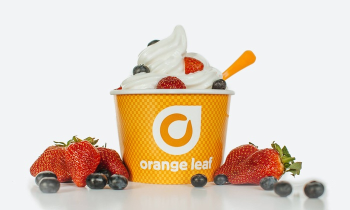Orange Leaf Frozen Yogurt - Multiple Locations: One or Three Groupons, Each Good for $10 Worth of Frozen Yogurt Orange Leaf Frozen Yogurt (40% Off)