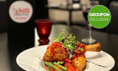 Dinner and Dessert for Two ($39) or Four ($75) People at Chilli Bar & Cafe (Up to $155.20 Value)