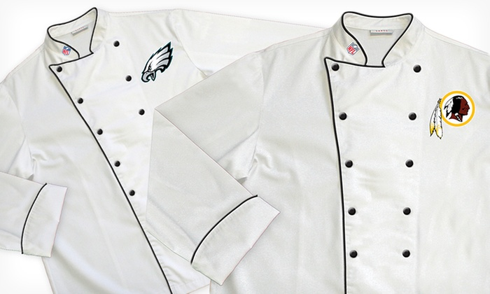 NFL NFC East Classic or Premium Chef Coats: NFL NFC East Classic or Premium Chef Coats (Up to 64% Off). Multiple Teams Available. Free Shipping and Returns.