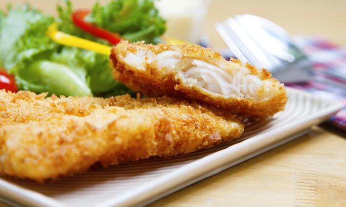 Squalo Bianco - San Benigno Canavese: Menu con 1 kg di frittura di pesce e bottiglia di vino per 2 persone al ristorante Squalo Bianco (sconto fino a 72%)