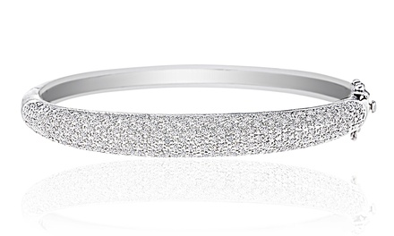 Bangle Bracelet with Diamond Accents