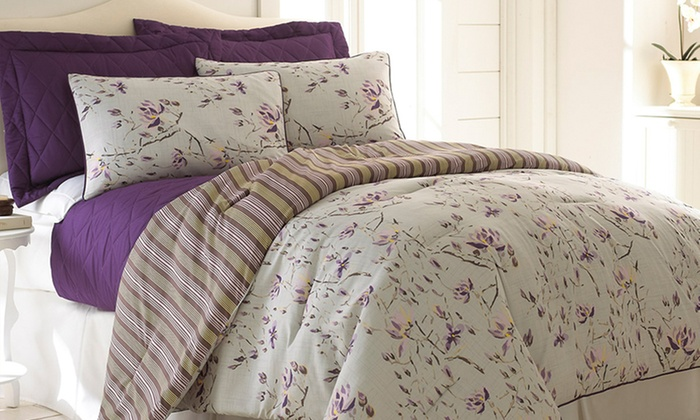 6-Piece Reversible Comforter Sets: $59.99 for a 6-Piece Reversible Comforter Set (Up to $299 List Price). Multiple Designs. Free Shipping and Returns.