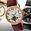 Heritor Automatic Men's Burnell or Piccard Watches with Leather Bands