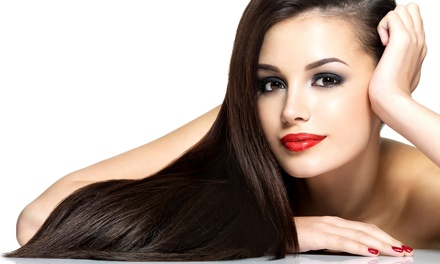Classic Manicure or a Brazilian Keratin Hair Treatment at Via Rio Hair Salon (Up to 64% Off)