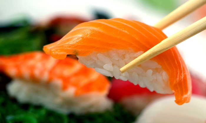 Wasabi Fusion Restaurant - Downtown East: Sushi Dinner with Wine or Beer for Two or Four at Wasabi Fusion Restaurant (50% Off)