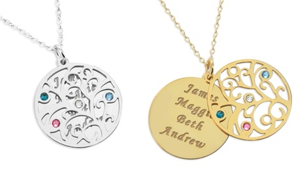 Monogram Online Personalized Silver or Gold Over Silver Disc Necklaces Available from $29.99—$34.99