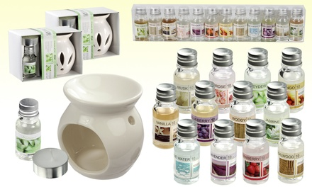 12 or 24 Scent Oils With Gift Box from £5.98 or Oil Burner Gift Set from £11.99