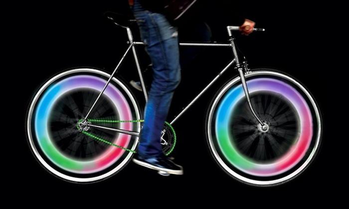 4-Pack of Multi-Color LED Bike Wheel Lights