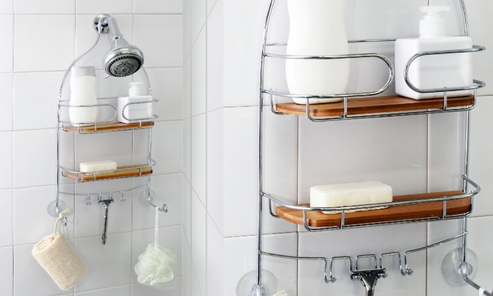 Chrome Steel Shower Caddy | Groupon Goods