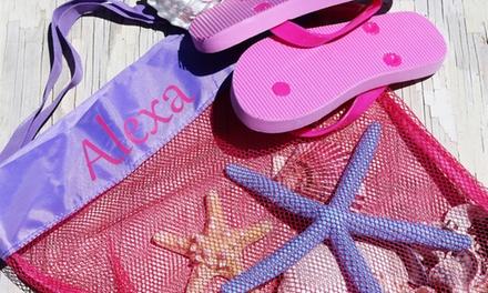 Custom Monogrammed Beach Bag or Keep-Dry Pouch at KraftyChix