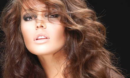 Haircut with Optional Partial Highlights or Single-Process Color at Executive Salon Suite (Up to 69% Off)