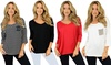 Women's Summer Tops in V-Neck or Scoop