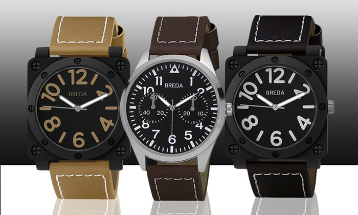 Breda Men's Watches: Breda Jaxon, Dexter, or Zach Men's Watches. Multiple Styles Available. Free Shipping and Returns.