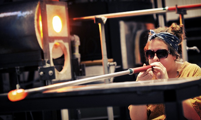 Little Black Pearl Workshop - Bronzeville: Introductory or BYOB Glass-Blowing Class for One or Two at Little Black Pearl Workshop (Up to 68% Off)