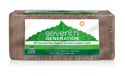 Seventh Generation Recycled Paper Napkins; 12-Pack of 500ct. Packages + 5% Back in Groupon Bucks
