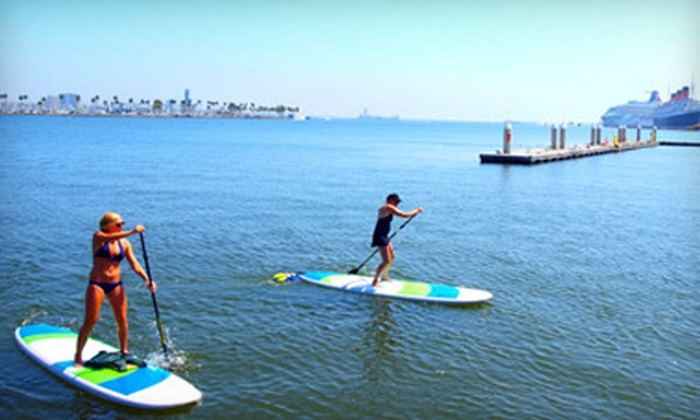 Long Beach Adventure Tours - Long Beach: $30 for a Two-Hour Standup-Paddleboard Group Lesson and Tour from Long Beach Adventure Tours ($60 Value)