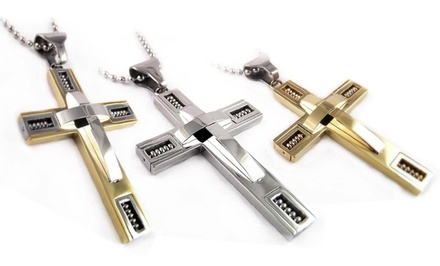 Men's Stainless Steel Cross. Multiple Styles Available.