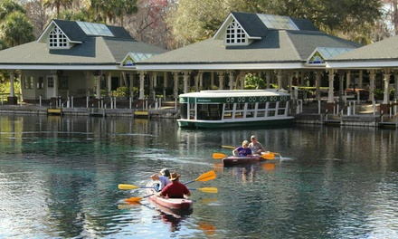 $43 for Glass-Bottom Boat Tour and a Kayak or Canoe Rental at Silver Springs State Park ($80 Value)